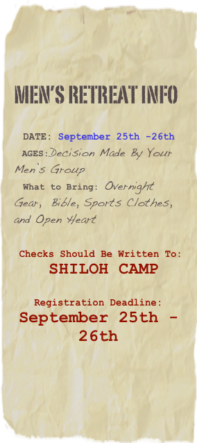 Men's retreat Info